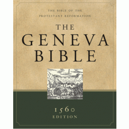 Geneva Bible Holy Scriptures Christian Books Reformed Reformation Puritan